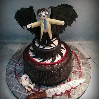 Supernatural Castiel cake  - Cake by Cathy Clynes