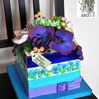 Kate Spade inspired birthday cake.