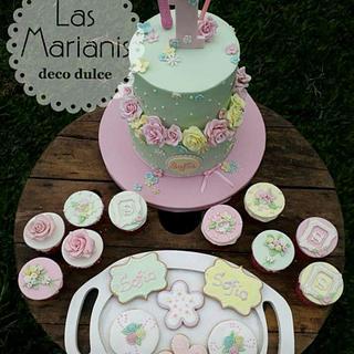 Torta rosas olivia