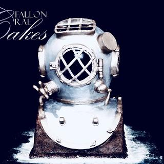 US Navy Diving Helemt - Cake by Fallon Rae Cakes
