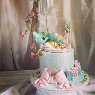 Ladies vintage shoe birthday cake