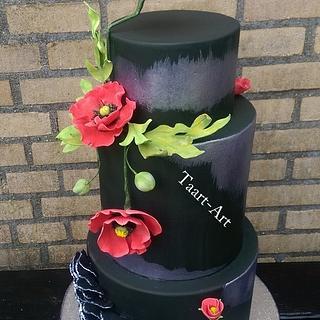 Poppy wedding cake