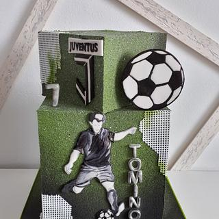 Birthday for soccer player - Cake by Kaliss