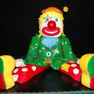 carved clown