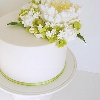 White Peony Single Tier
