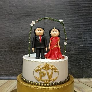 Indian wedding  - Cake by Shris12