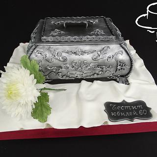 Box and chrysanthemum - Cake by Diana