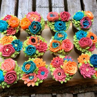 Bright & Cheerful flower cuppies :)