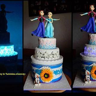 Light up Frozen Cake.
