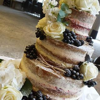 Theresa  Naked wedding Cake