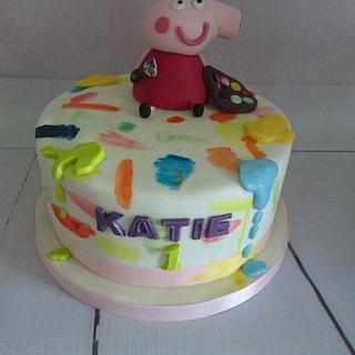 Peppa Pig the Artist - Cake by Jennie