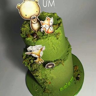 Animals in forest - Cake by dortUM