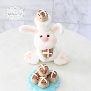 Easter bunny cake topper