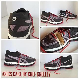 Asics running shoe cake! - Cake by Chef Greeley