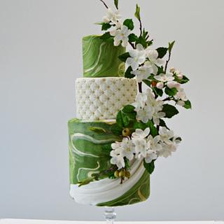 spring mood- apple blossoms cake