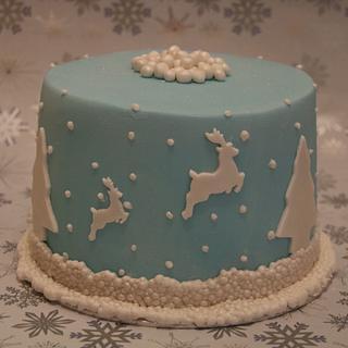 Flying reindeer - Cake by Roberta