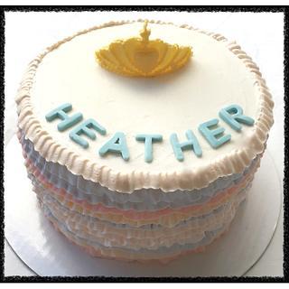 Pastlr ruffle birthday cake  - Cake by Live Love n Bake