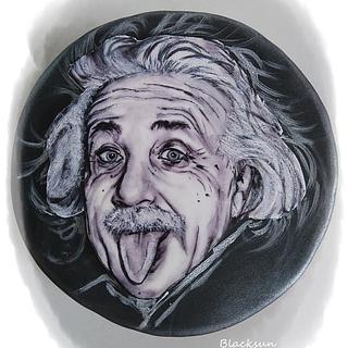 Hand painted Einstein