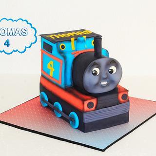 Thomas cake for Thomas! - Cake by Super Fun Cakes & More (Katherina Perez)