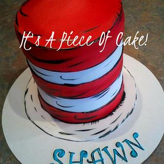 Smash Cake, Buttercream Icing with Fondant Red Stripes