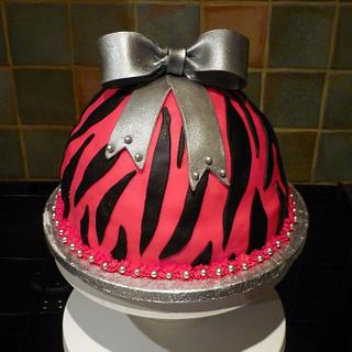 Animal Print Cake With Bow
