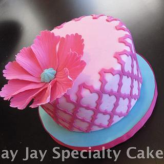 Morocan Lattice Birthday Cake