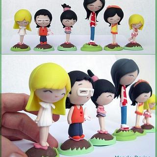 6 mini chocolate eggs for 6 mini characters :)