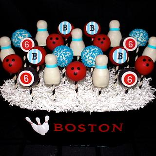 Retro Bowling Cake Pops - Cake by Cuteology Cakes