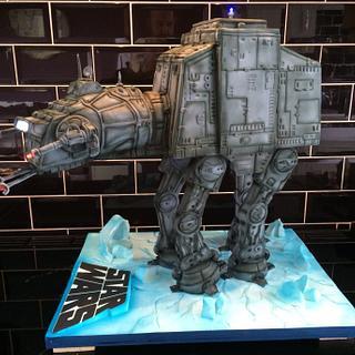 Star Wars At At 3D cake