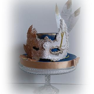 Masquerade mask - Cake by Zuzana Kmecova