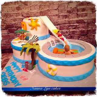 50th birthday pool cake