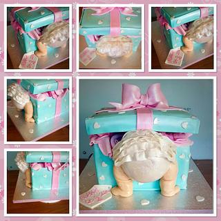 Baby bum present box  - Cake by Ace makes cakes