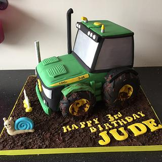 Tractor cake  - Cake by Donnajanecakes