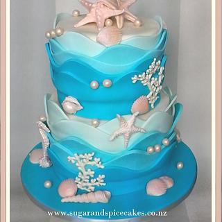 Beach Wedding Cake