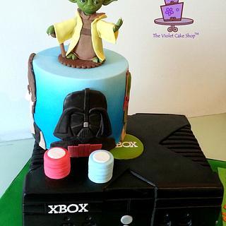 XBOX Loving POKER Playing STAR WARS Fanatic's Milestone B-Day Cake