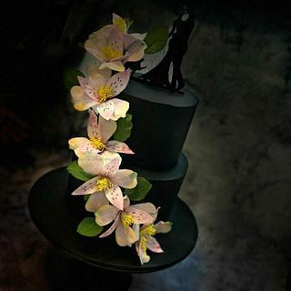 Wafer Paper Alstroemeria - Cake by ShwetaBhargavaCreations