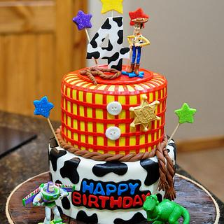 Toy Story Cake With Woody and Buzz