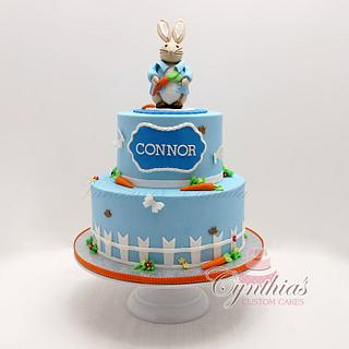 Peter the rabbit birthday cake