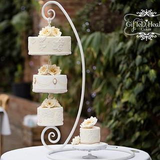 Ivory hanging cake
