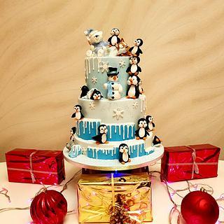 Happy winter cake