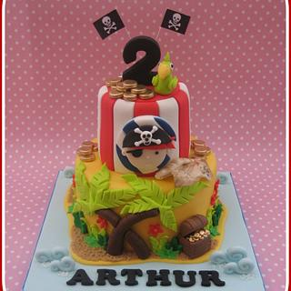 Pirate Themed Birthday Cake
