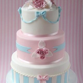 Pastel Wedding Cake