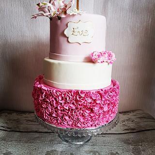 Pink Ruffles Cake - Cake by deephousecakes
