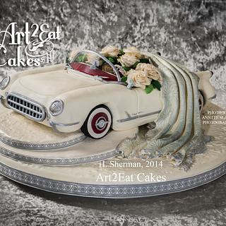White Corvette Wedding