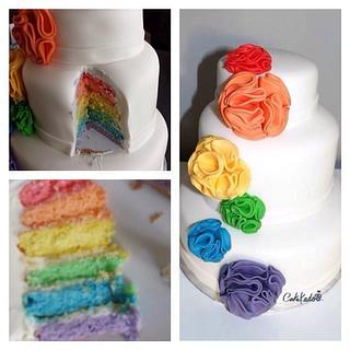Rainbow weddingcake - Cake by Cakekado