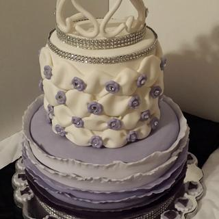 Purple Ombre Ruffles, Billowing, and a Crown too!