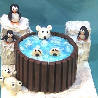 Polar Bear Hot Tub Cake