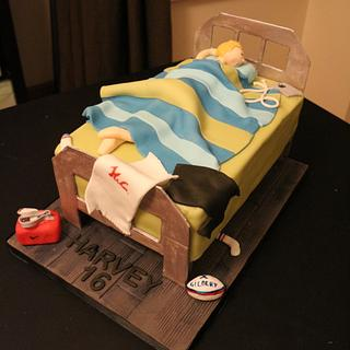 Teenager Bed cake