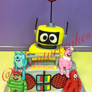 Yo Gabba Gabba Cake - Cake by K & S Couturecakes