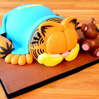 Garfield cake - Cake by Strawberry Lane Cake Company